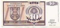 REPUBLIKA SRPSKA - 10 DIN - 1992. - Bosnia And Herzegovina