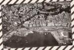 U285 ALGER VUE AERIENNE D'ALGER CENTRE ET LA NOUVELLE GARE MARITIME 1955  2 SCANS - Alger