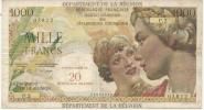 BILLET DE 1000 FRANCS . CONTRE VALEUR 20 NF - Reunion
