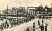 CPA 50 CHERBOURG LE PONT TOURNANT ET LA RUE DE VAL DE SAIRE - Cherbourg