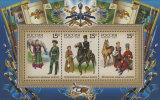 Russia, 2011,  Kozaks, Riders, Horses, Souvenir Sheet - Ongebruikt