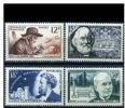 FRANCIA - 1956 - Famous Scientists  Mi. 1083/86 - Yv. 1055/58 Serie Cpl. 4v. Nuovi** Perfetti - Neufs
