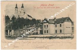 042 AUSTRIA MARIA -TROST MIT BAHNHOF DER ELEKTRISCHEN BAHN - TRAVELING FOR RAGUSA DUBROVNIK (CROATIA) 1898 - Autriche