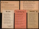 Postal Poem , Sing-A-Song By Lawrence Watters ; 5 Old Postcards (1952/54) - Postkaarten
