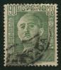 1946- 47 - Europe - Espagne -  Franco Par Moneda - 90 C Vert-jaune - - 1931-50 Usati