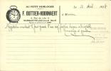 59.NORD. MARQUETTE LEZ LILLE. AU PETIT HORLOGER. F.OUTTIER-HOORNAERT. - Francia