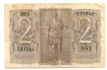 2 Lire - 1939. - [ 1] …-1946 : Koninkrijk