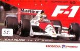 Télécarte JAPON * AYRTON SENNA (AS-J-55) Formula 1 * Voiture Auto * Car Racing *  Phonecard Japan * - Coches