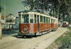 DIJON (21) Tramway Motrice De Dietrrich N°33 Et Remorque Pétolat Au Terminus De Pouilly Ligne N° 5 - Tramways