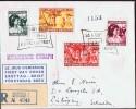 1940  Aide Aux Enfants  FDC Pour La Suède  Mi Nr 418-421 - FDC