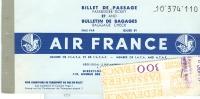 AIR  FRANCE - BIGLIETTO AEREO  1958 - - Europe