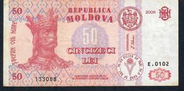 MOLDOVA   P14   50 LEI  2006     VF   NO P.h. ! - Moldova