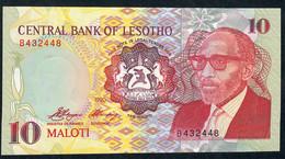 LESOTHO   P11 10 MALOTI 1990 #B  Signature 3   UNC. - Lesotho