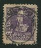 1938-40 - Europe  - Espagne - Isabelle La Catholique - 40 C Violet Noir - - 1931-50 Usati