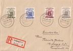 West-Sachsen R-Brief Mif Minr.143,145,146,147 Leipzig 5.2.46 - Sowjetische Zone (SBZ)