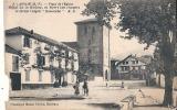 ASCAIN Place De L'église Timbrée MAL DECOUPEE - Sonstige Gemeinden
