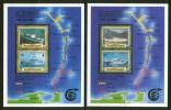 1986 British Virgin Island Navi Boats Ships Bateaux Navires Set 4 Block MNH**2 Scans - Pa210 - British Virgin Islands
