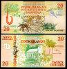 COOK ISLANDS 20 DOLLARS 1992 P 9 AAA UNC - Cook