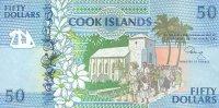Cook Islands 50 Dollars (1992) Pick 10 UNC - Cook