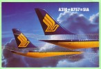 AIRPLANES - Singapore Airlines, A 310 And B 757 - 1946-....: Moderne