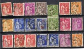 Lote 21 Sellos Tipo PAZ, Paix Francia º - 1932-39 Peace
