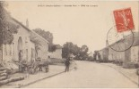 CPA 70 SAULX Grande Rue Côté De Luxeuil Charrette Animation 1919 - France