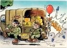 CP Humour Militaire : Dessin De I . Riva (N°17 ) - Humour