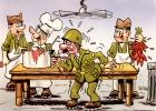 CP Humour Militaire : Dessin De I . Riva (N°14 ) - Humour
