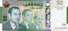 MOROCCO 72 - 50 Dirhams 2009 UNC 50th Ann. Bank Al-Maghrib See Scan Foto - Marruecos