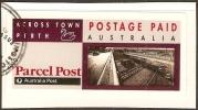 AUSTRALIA - DIECUT - USED 1991 Postage Paid Across Town Label - Perth - Usati