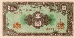 JAPAN 5 YEN P 86 XF - Japon