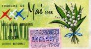 BILLET LOTERIE....TRANCHE DE MAI LE MUGUET   ....1975....76 ROUEN - Billets De Loterie