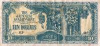 JAPAN INVASION BANKNOTE (JIM) 10 DOLLAR MALAYA 1942-45 - Billets