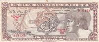 Republica Dos Estados Unidos Do Brazil - 5 Cruzeiros - Brazil