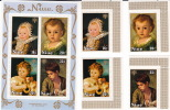 NIUE  1979  Internationa Year Of The Child   Paintings  Stamps And  Souvenir Sheets  Sc 237-240   MNH ** - Niue