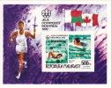 1977  Vainqueurs Des Jeux Olympiques De Montréa  Natation   Bloc Feuillet ** - Madagaskar (1960-...)