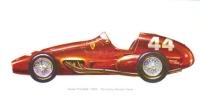 Ferrari Tipo 625  -  1955  -  Art Card Painted By Gordon Davies - Sin Clasificación