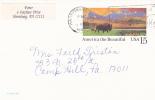 Postal Card - America The Beautiful - Buffalo In The Prairie - Scott # UX120 - - Postal Stationery