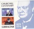 GIBRALTAR  1974  Churchill Centenary  Souvenir Sheet   UM  MNH ** - Gibraltar