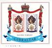 GIBRALTAR  1977  Elizabeth II Silver Jubilee   Souvenir Sheet   UM  MNH ** - Gibraltar