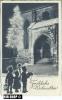 Um 1930/1940 Ansichtskarte Fröhliche Weihnachten  Gelaufene Karte Mit Frankatur Und Minimalen Alters- Und Beförderungssp - Scherenschnitt - Silhouette