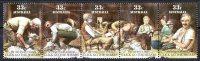 Australia 1986 Click Go The Shears 33c - Strip Of 5 Used  SG 1014-1018 - 1980-89 Elizabeth II