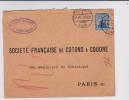 EGYPT - 1916 - YVERT N°49 SEUL Sur ENVELOPPE COMMERCIALE De CAIRE Pour PARIS