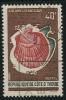 1971-73 - Côte - D'Ivoire - Chlamys-flabellum - 40 Frs Brun Vert Fonçé Et Brun-rouge - - Costa De Marfil (1960-...)