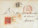 Carta MEDINA DE POMAR?(Burgos?La Rioja); Edifil No.24 - 1850-68 Regno: Isabella II