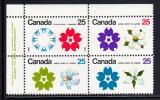 Canada Scott #511a MNH 25c Expo ´70 Upper Left Plate Block - Num. Planches & Inscriptions Marge