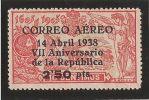 ES756-L1557TCSC.España .Spain.Epagne.ANIVERSARIO DE LA REPUBLICA.QUIJOTE..1938( Ed 756**),sin Charnela..MAGNIFICO - Sin Clasificación