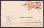 DP 14/01 + ZF Dienstmarke, K.Bezirksnotariat Lorch, Nach Pluederhausen 1921 (41168) - Interi Postali