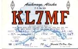PK QSL - Anchorage Alaska - Radio 1960 - Cartes QSL
