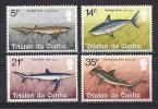 Tristan Da Cunha, Year 1982, Mi 315-318, Sharks, MNH ** - Tristan Da Cunha